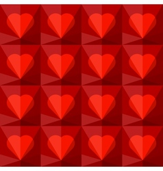 Background with crystal hearts vector image