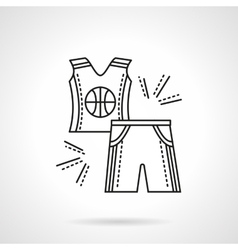 Basketball uniform flat line icon vector
