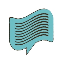 Blue bubble speech message dialogue sketch vector