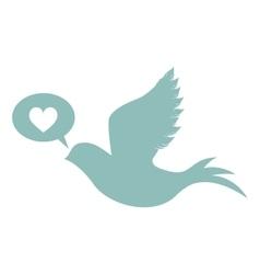 Blue dove bird vector