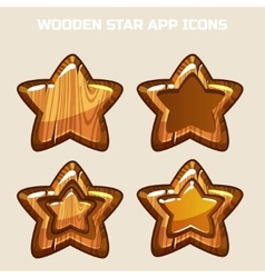 cartoon wooden Stars in different threads vector image vector image