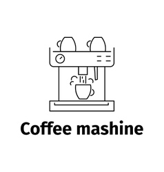 Coffee maker icon line style vector
