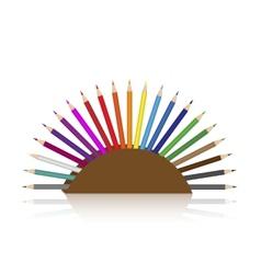 Colour pencils set vector image vector image