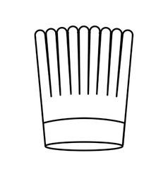 Contour of chefs hat striped vector