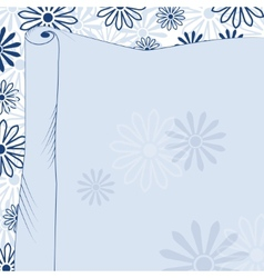 Daisies blue background vector image vector image