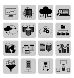 Data analysis icons vector image vector image