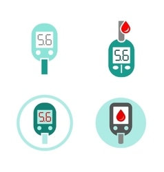 Diabetes Glucometer Icons vector image vector image