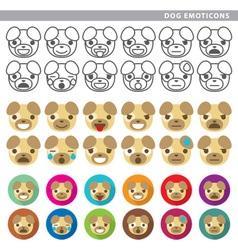 dog emoticons vector image