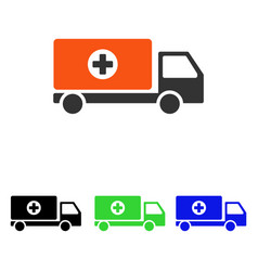 drugs shipment flat icon vector image vector image