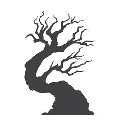 halloween tree glyph icon halloween and scary vector image vector image