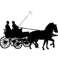 horse and carriage vs vector image vector image