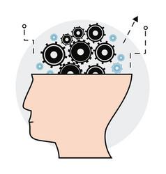 Human head gears creativity image vector