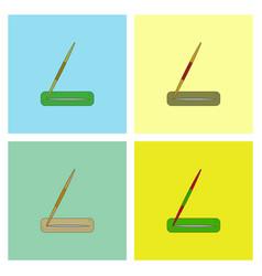 Javelin throw set vector