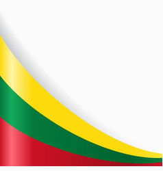 lithuanian flag background vector image