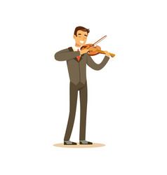 male musician wearing a classic suit playing vector image vector image