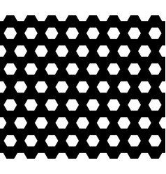 monochrome seamless pattern with hexagons vector image