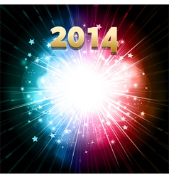 new year firework vector image vector image