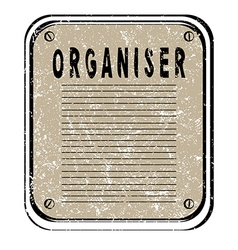 organiser vector image vector image