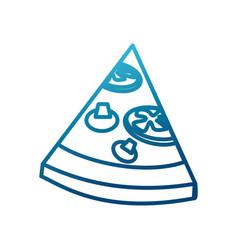 Pizza slice food vector