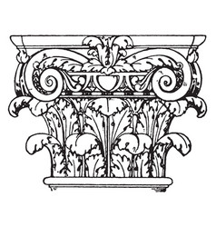 Roman composite capital a fusion of the ionic vector