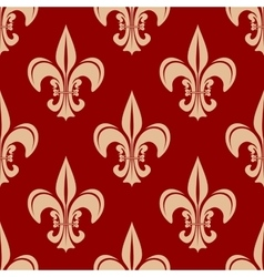 Seamless victorian royal fleur-de-lis pattern vector