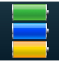 Set of battery charge status vector image