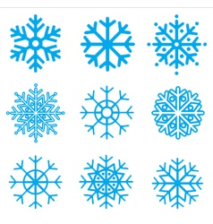 Snowflakes collection element for design vector
