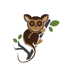 tarsius animal character vector image