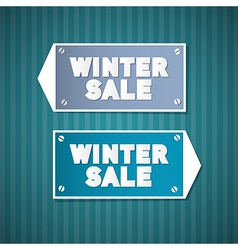 Winter Sale Retro Signs vector image vector image