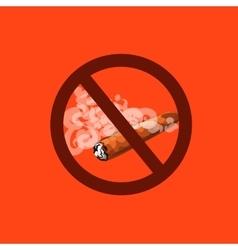 antitobacco prohibition to smoke cigars vector image