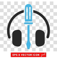 Headphones tools eps icon vector