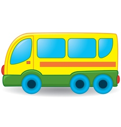 Bus toy vector