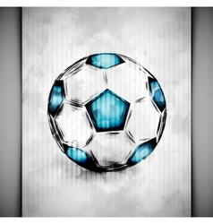 Soccer ball watercolor vector
