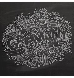 Cartoon cute doodles Germany vector image