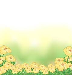 A stationery with a garden of yellow flowers vector