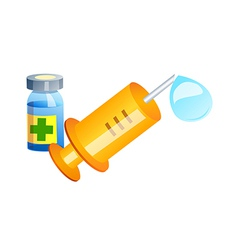 Icon syringe vector