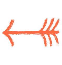 arrow sign brushstroke texture vector image