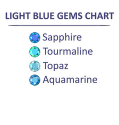 gems blue color chart vector image