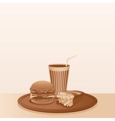 Vintage Fast Food Composition Background vector image