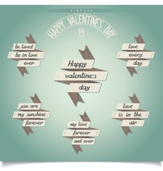 Set of ribbons for valentines day vector