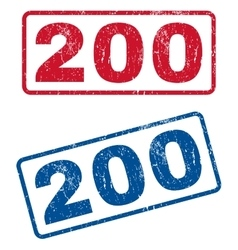 200 Rubber Stamps vector image vector image