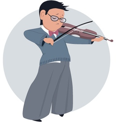 Little boy playing violin vector