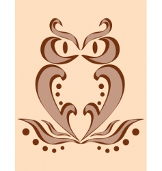 Abstract image of an owl vector