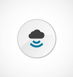 Connect cloud icon 2 colored vector