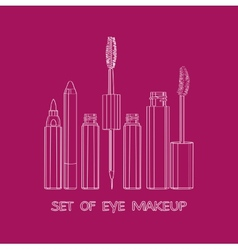 Set of eye makeup vector