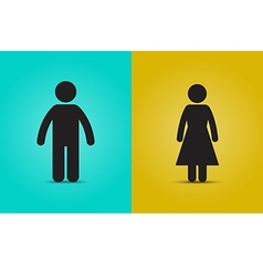 Man and woman simple icon vector