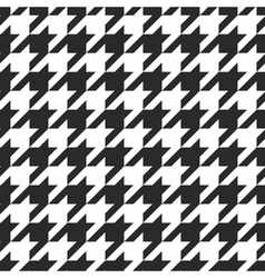 Houndstooth tile black and white pattern vector