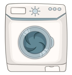 Cartoon appliences washing machine vector