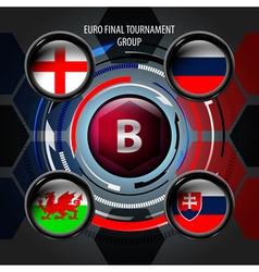 European flag buttons b vector