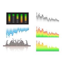 Diagram of sound waves vector